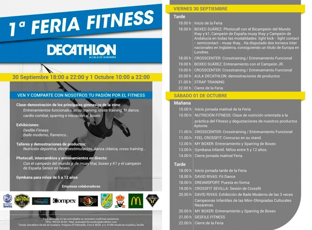Cartel Feria Fitness Decathlon